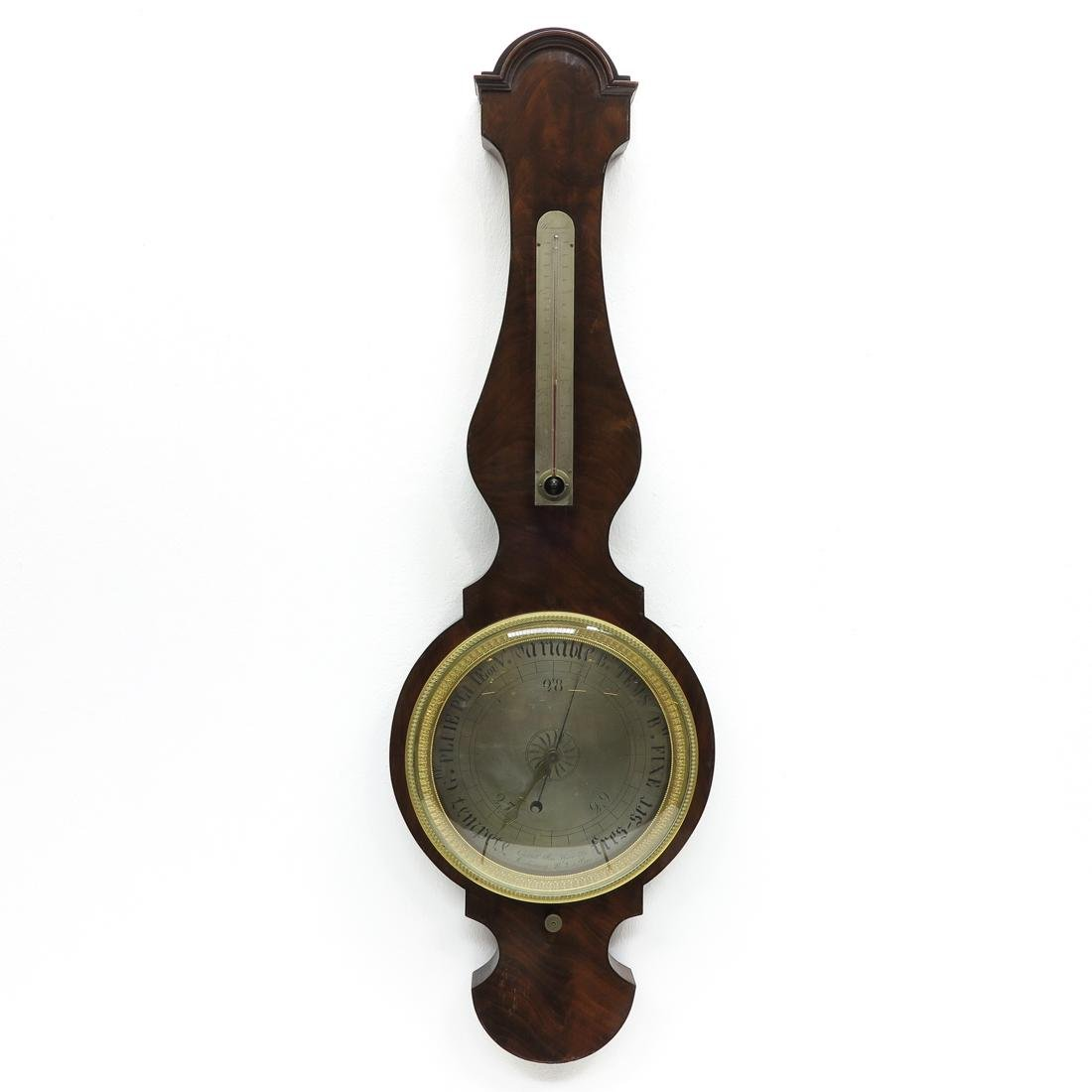 19th Century French Barometer Signed Housset