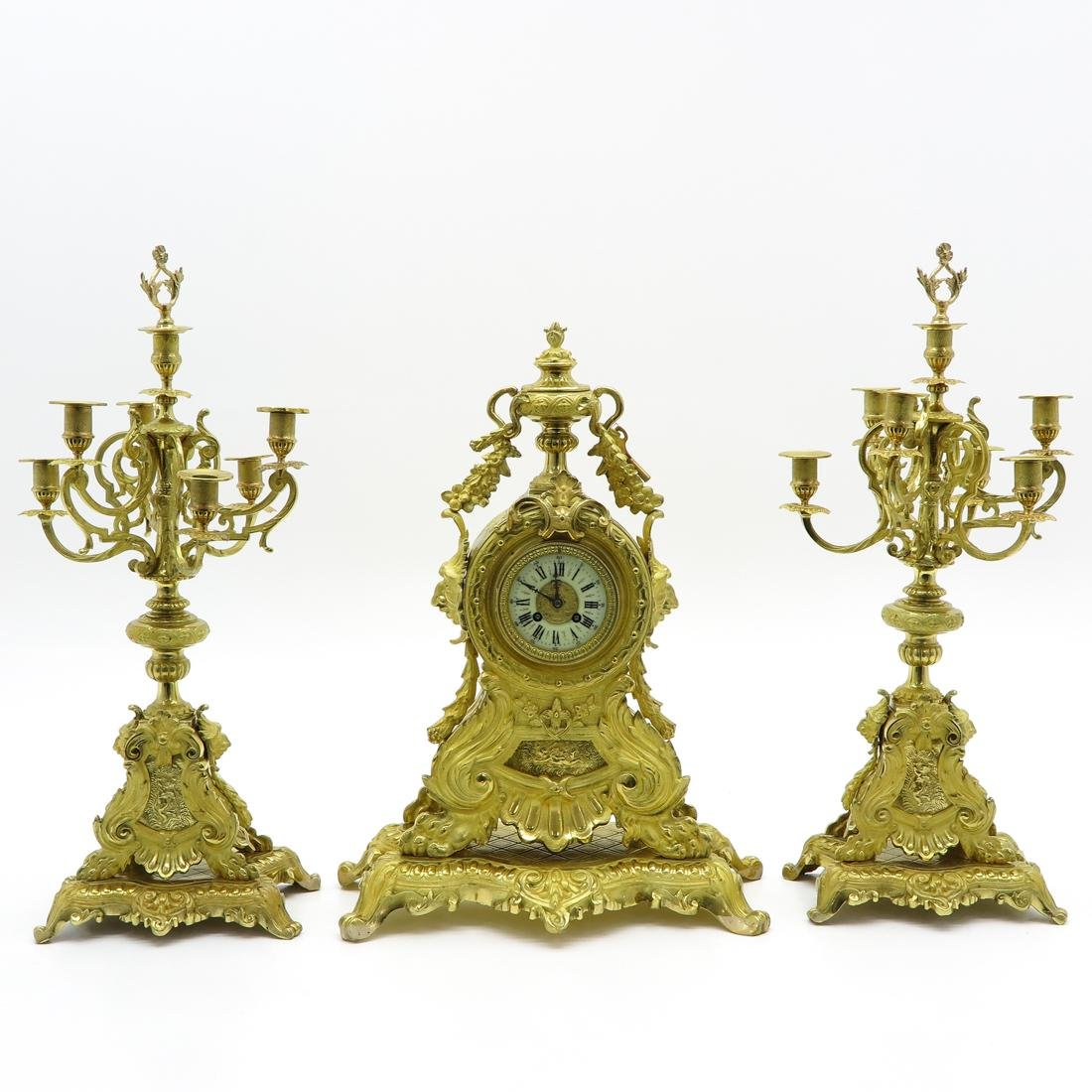 19th Century 3 Piece Clock Set