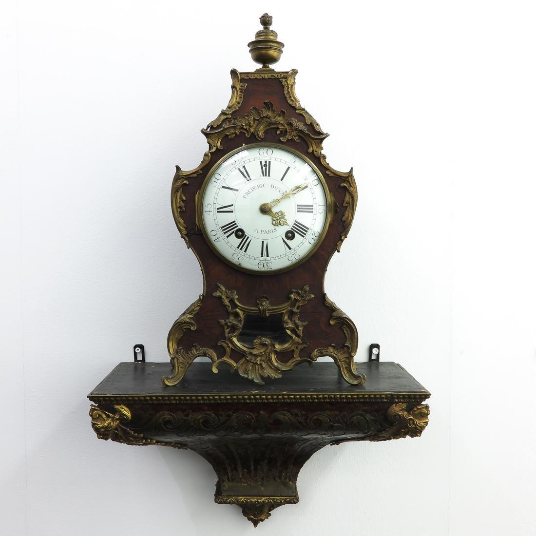 French Clock Circa 1770 Signed Frediric Duval Paris