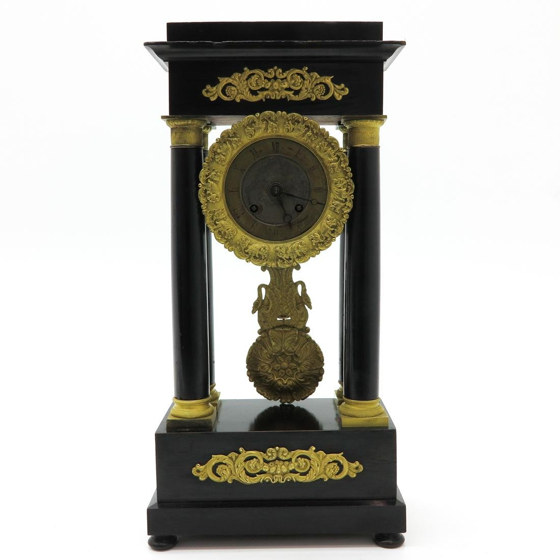 French Empire Column Clock