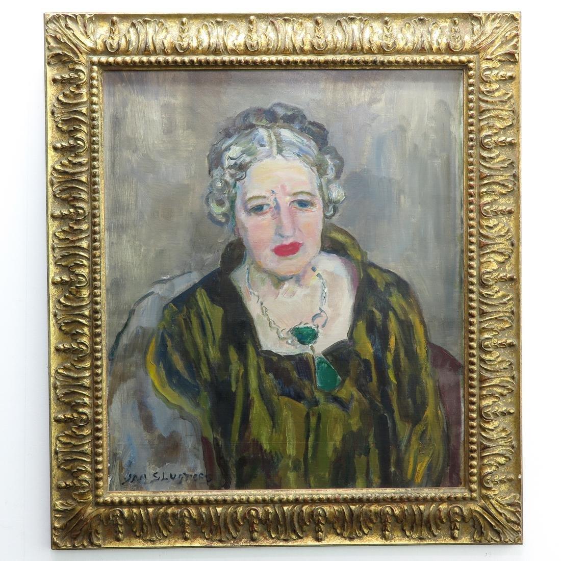 Signed Jan Sluijters Oil on Canvas Portrait Painting
