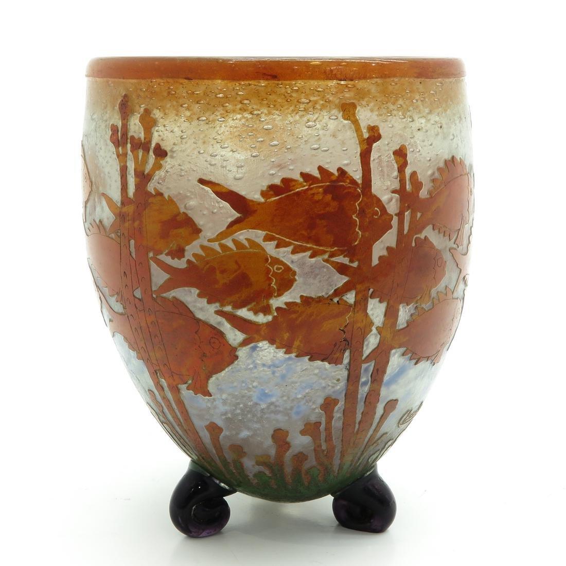 Signed Charles Schneider Cameo Glass Vase
