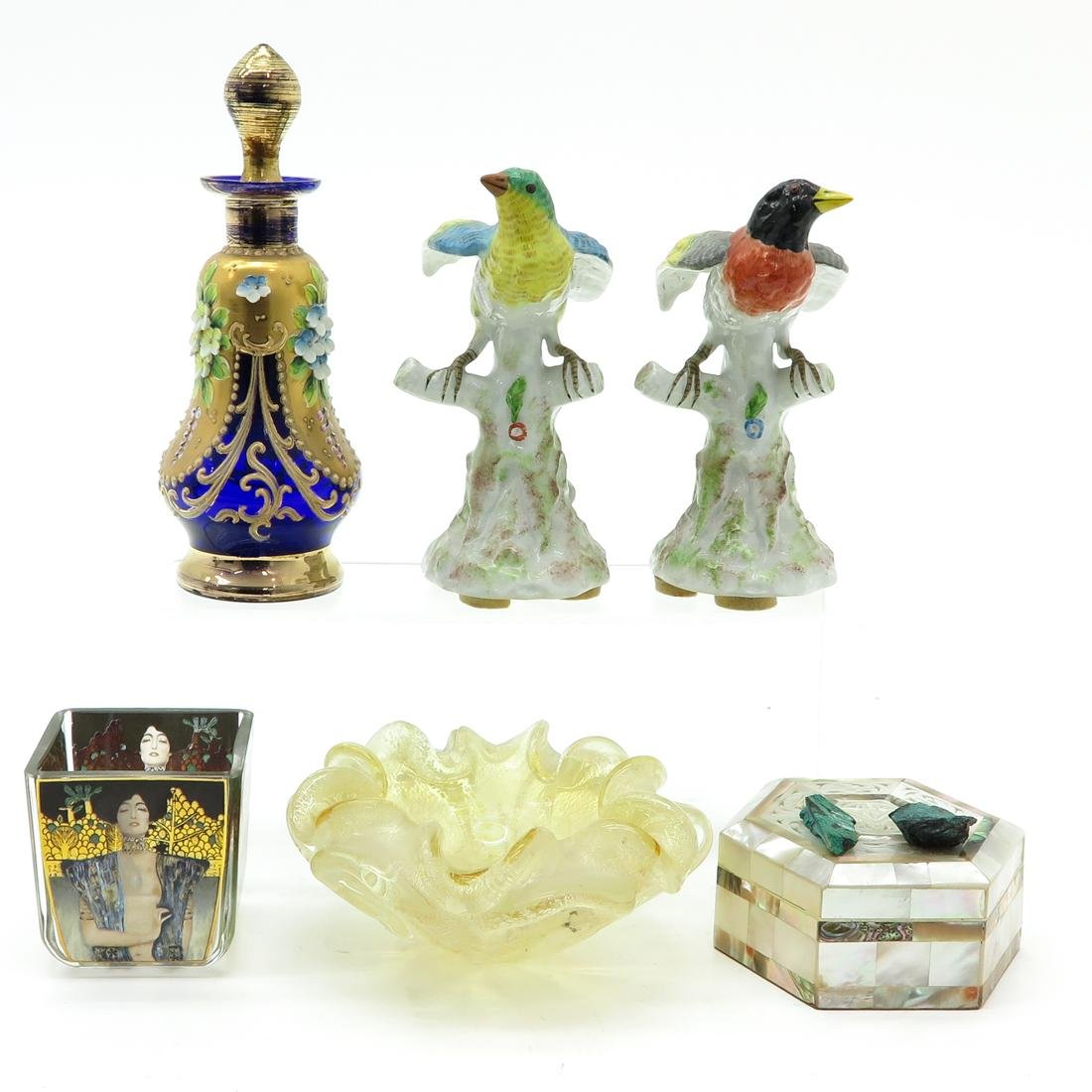 Diverse Lot of 6 Items Including Mother of Pearl Box