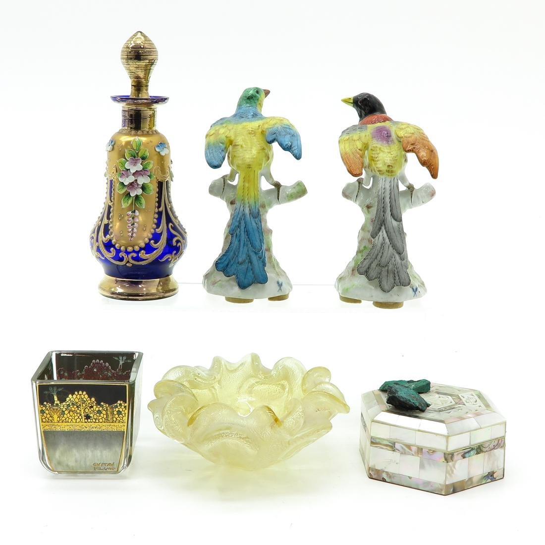 Diverse Lot of 6 Items Including Mother of Pearl Box - 3