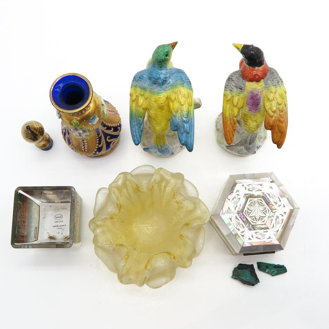 Diverse Lot of 6 Items Including Mother of Pearl Box - 5