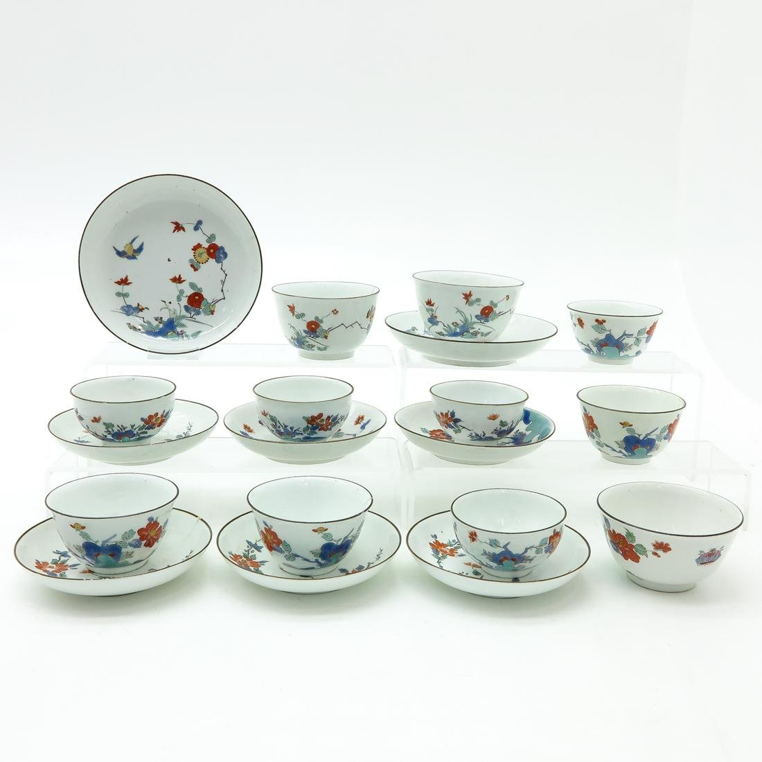 18th - 19th Century Meissen Kakimon Cups and Saucers