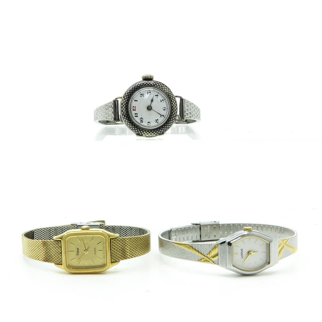 Lot of 3 Ladies Vintage Watches Including Rolex
