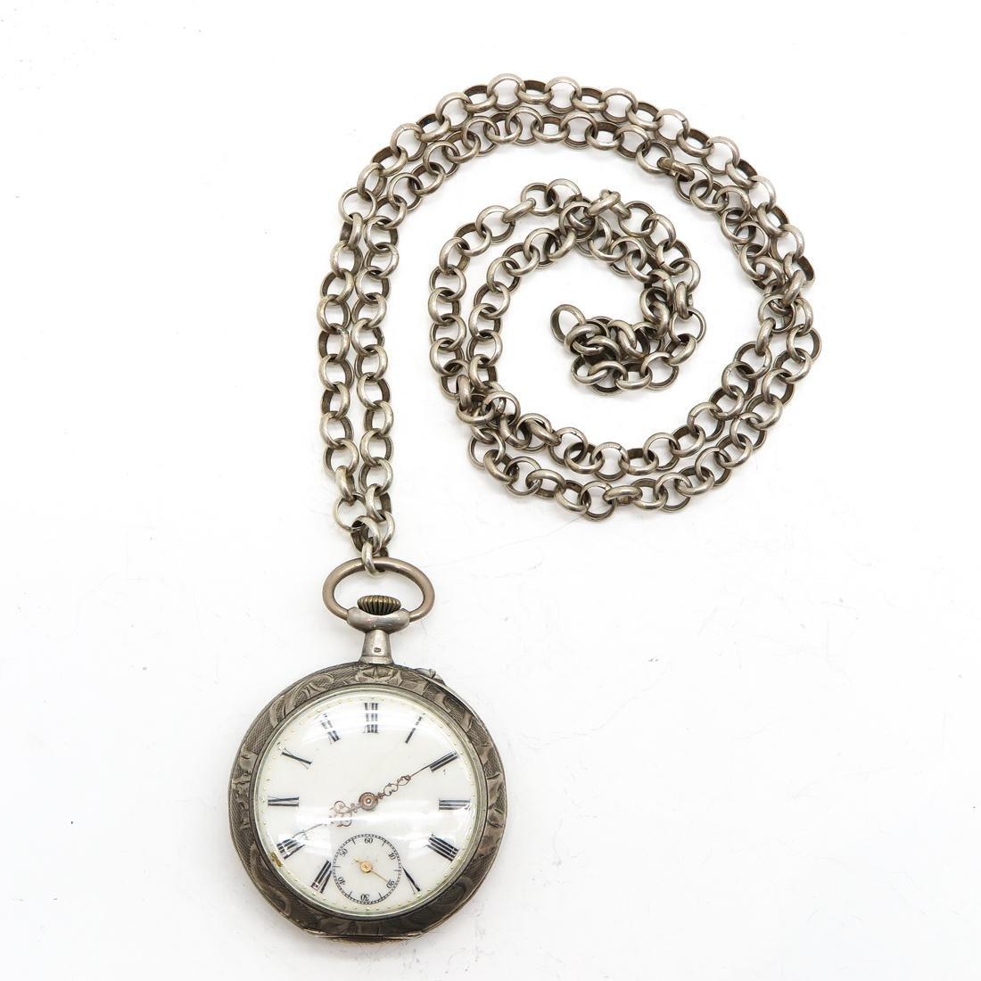 Art Nouveau Silver Pocket Watch