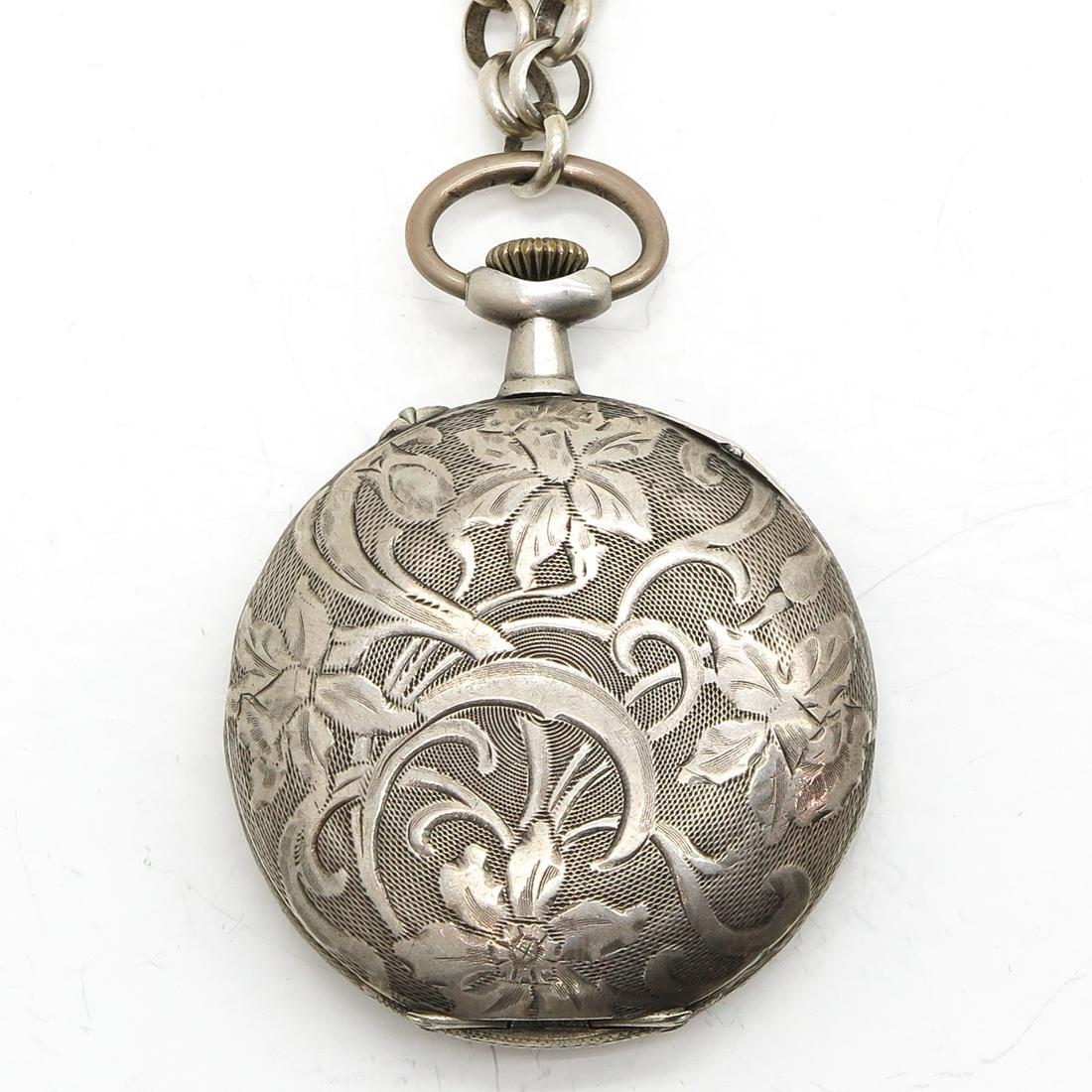 Art Nouveau Silver Pocket Watch - 2