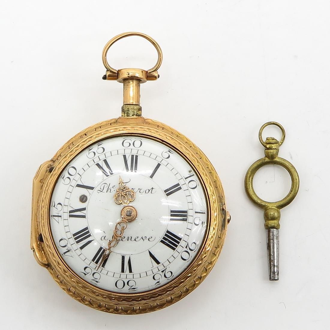 18KG Ph. Terrot & Fazy Pocket Watch Circa 1780