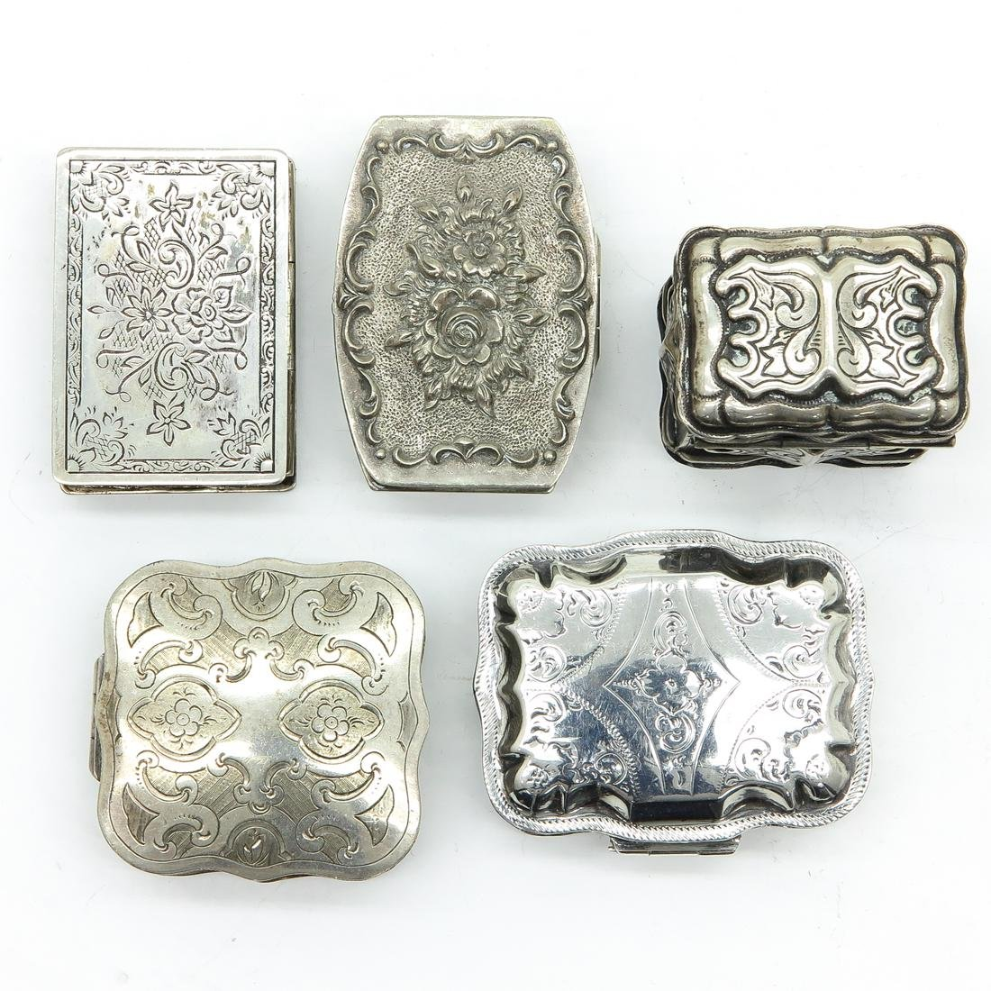 Lot of 5 Scent Boxes and Pill Boxes