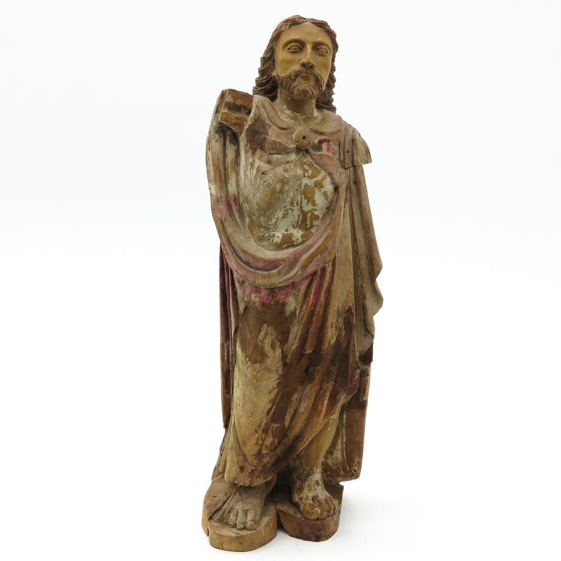 Carved Wood Sculpture Depicting Christ Circa 1780