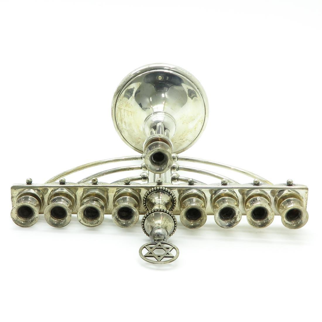 Dutch Silver Menorrah - 5