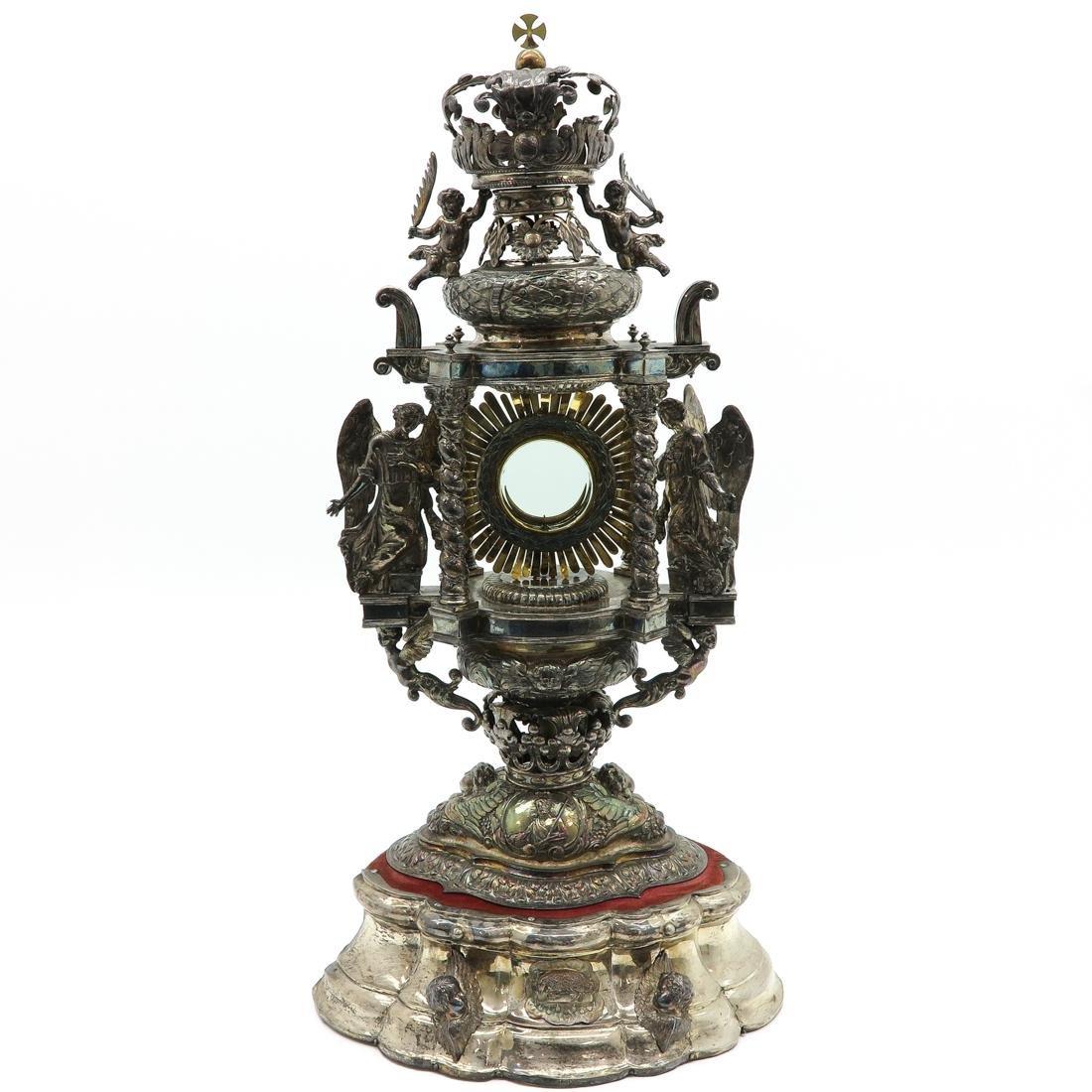 A Fine 18th / 19th Century Silver Monstrance