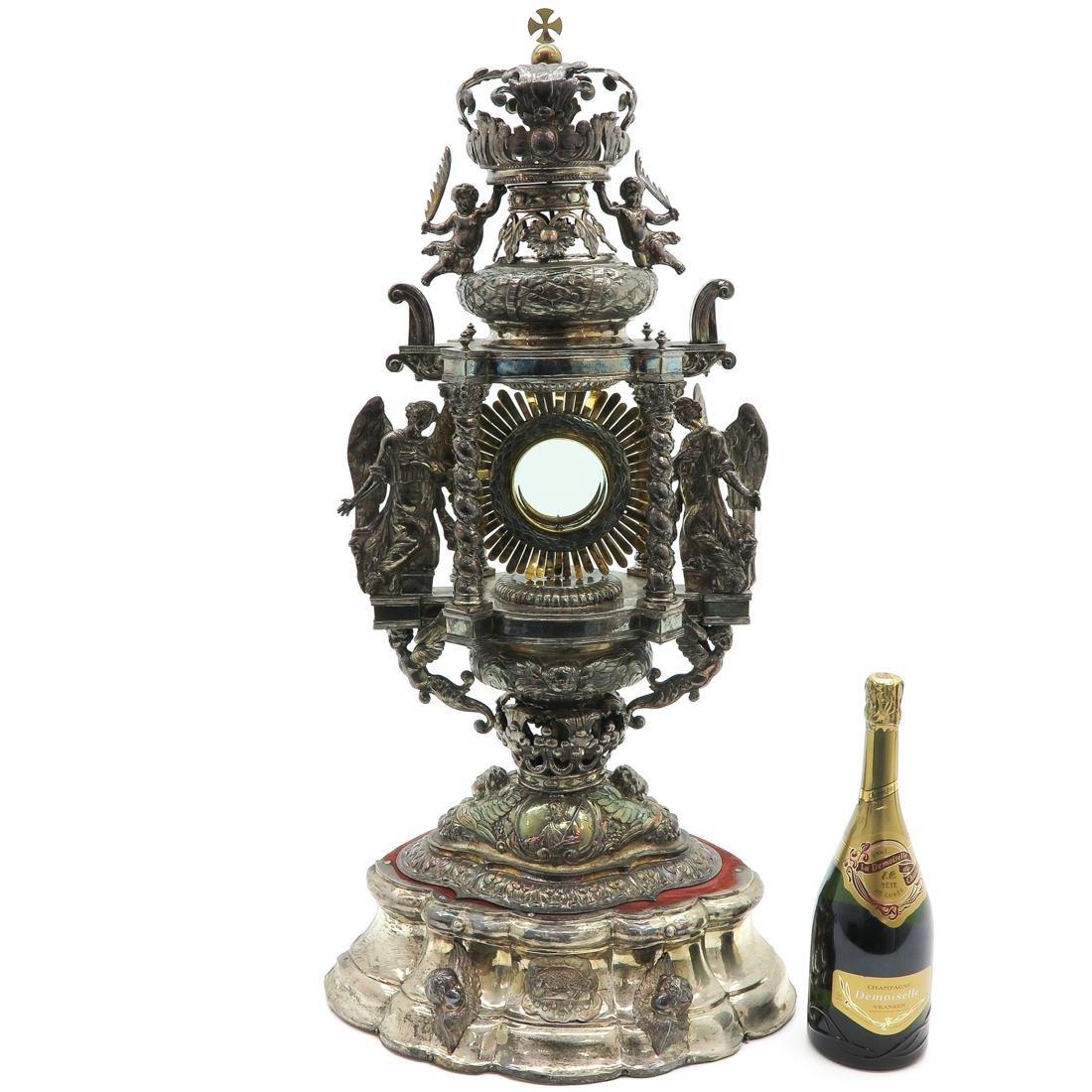 A Fine 18th / 19th Century Silver Monstrance - 6