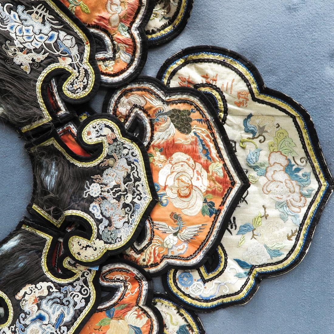 Lot of Chinese Silk Embroidered Textiles - 2