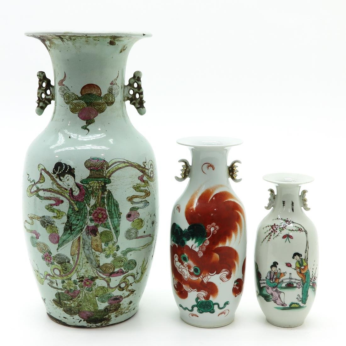 Lot of 3 Vases