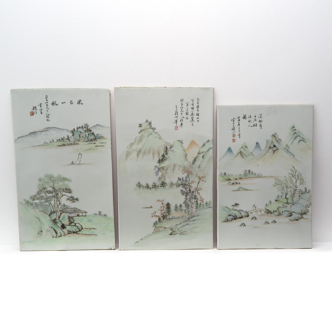 Lot of 3 Chinese Tiles