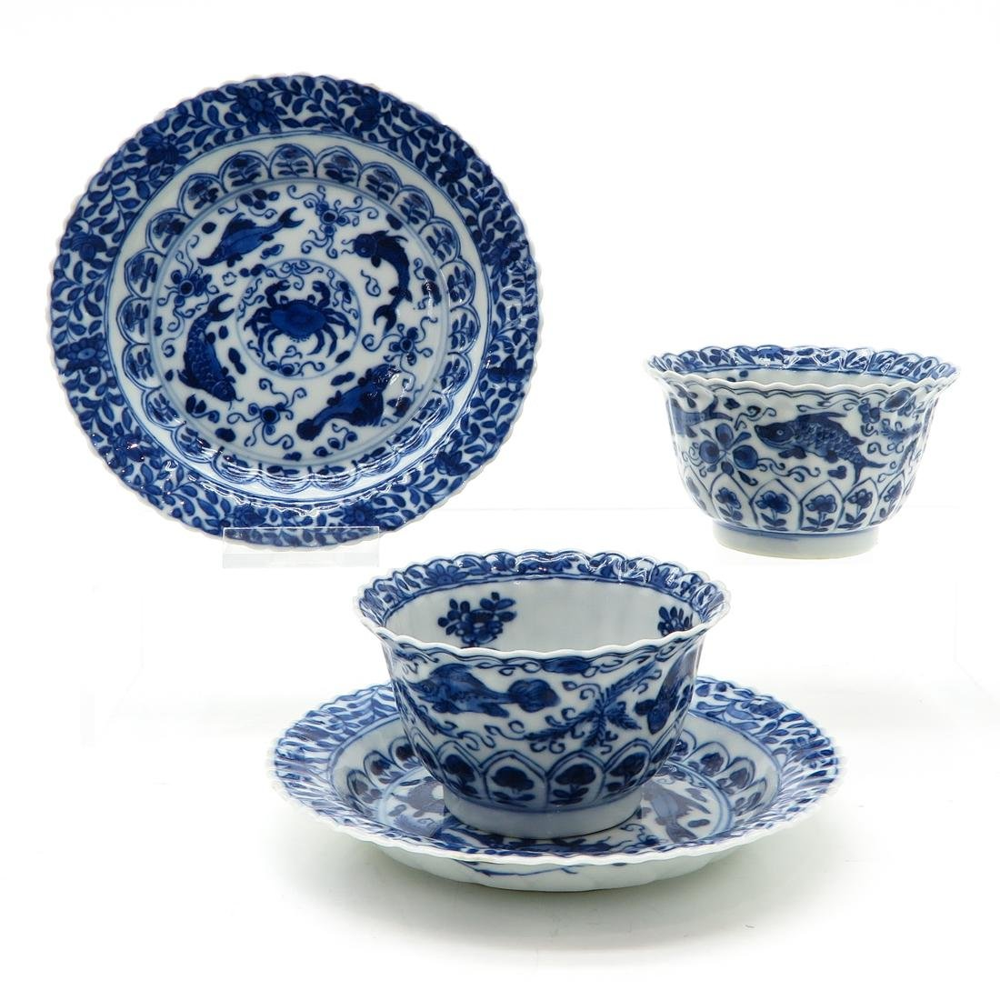Lot of 2 Cups and Saucers
