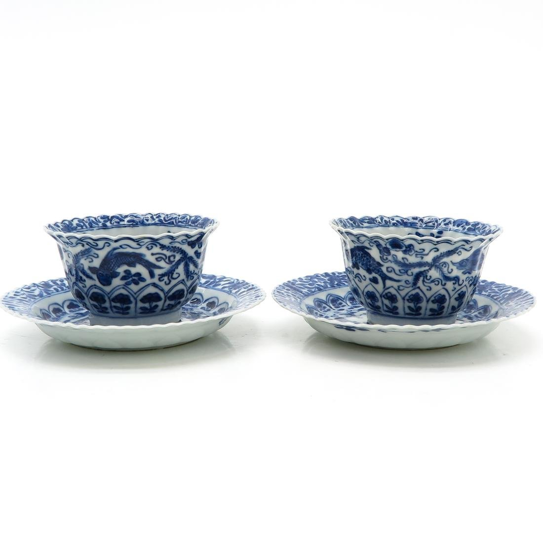 Lot of 2 Cups and Saucers - 2