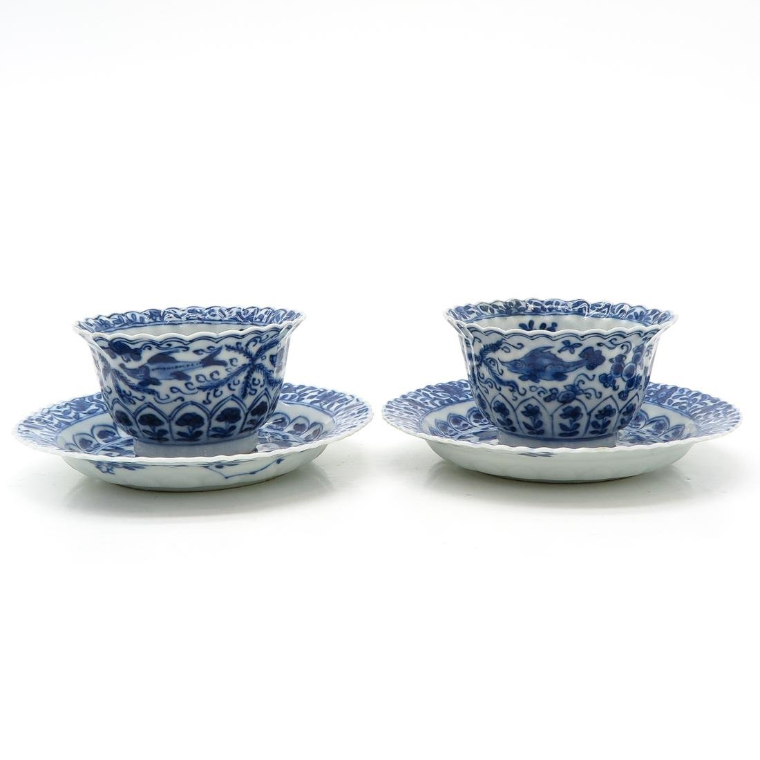 Lot of 2 Cups and Saucers - 3