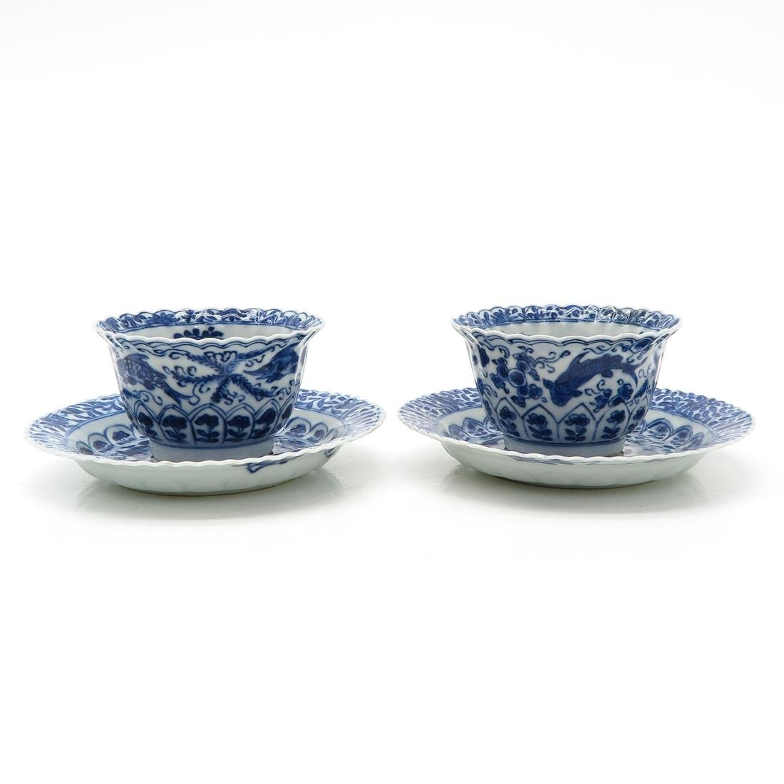 Lot of 2 Cups and Saucers - 4