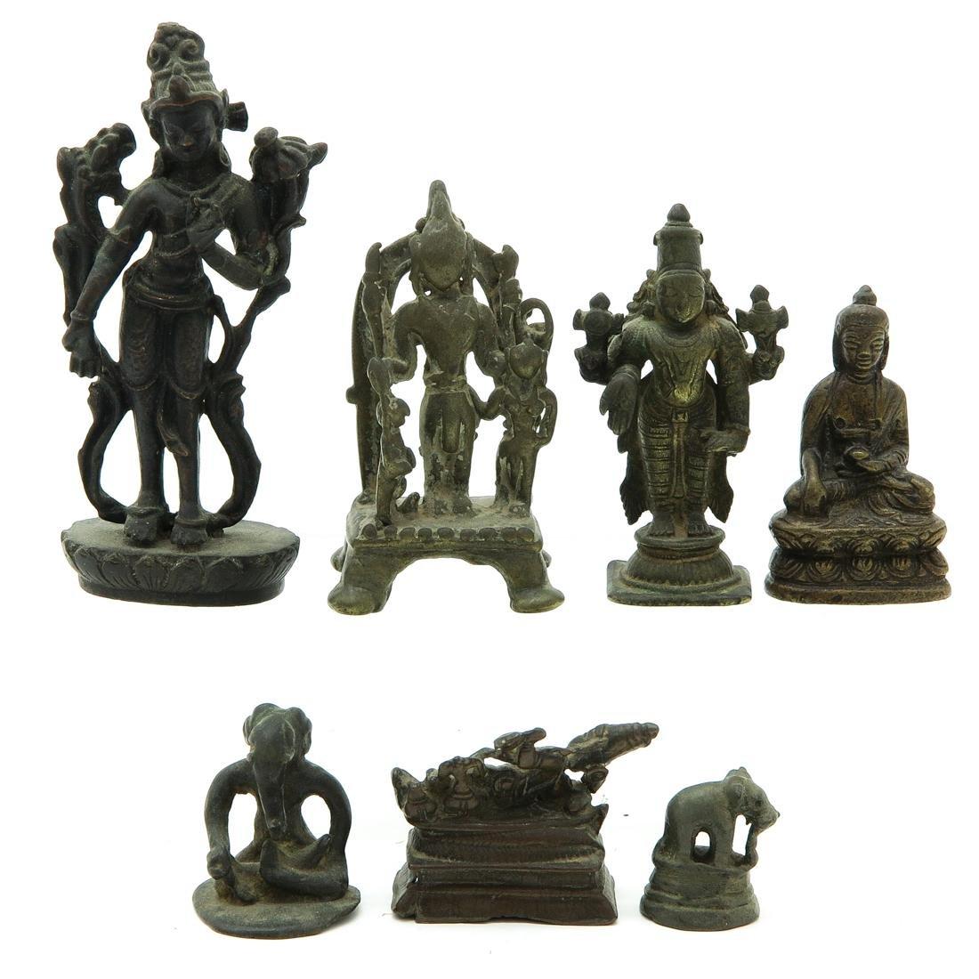 Lot of 7 Metal Sculptures