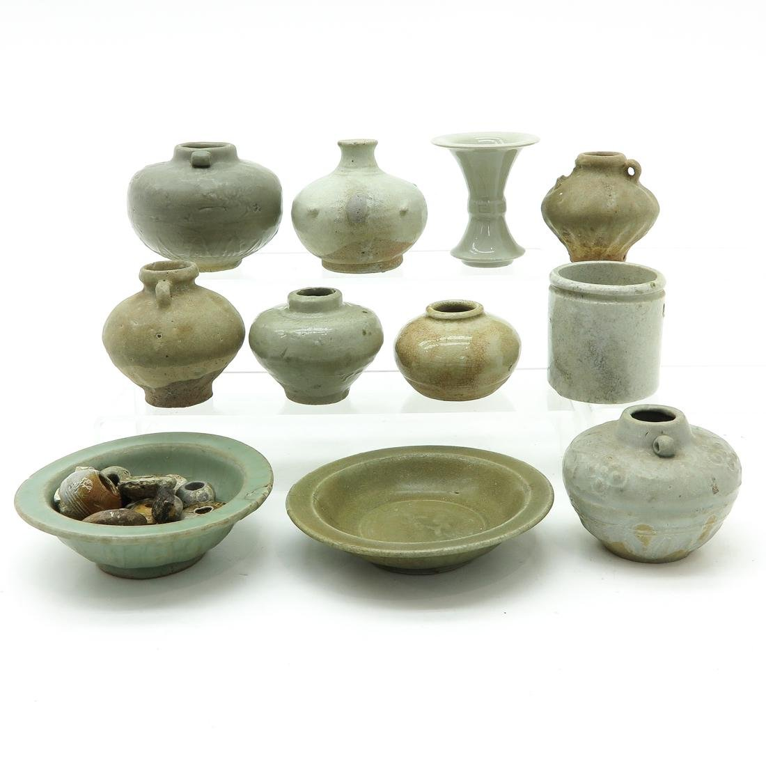 Diverse Lot of Chinese Celadon Items - 2