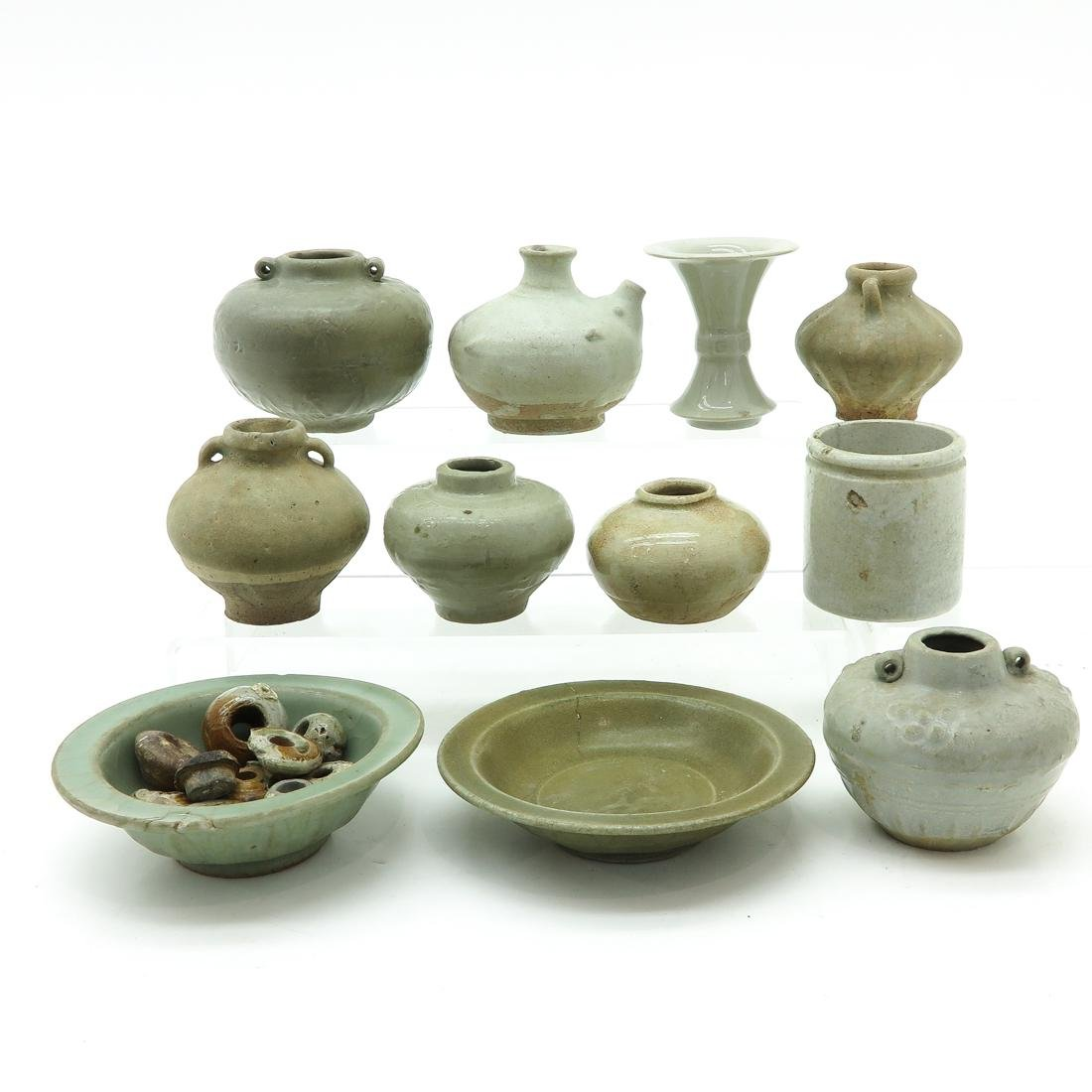 Diverse Lot of Chinese Celadon Items - 3