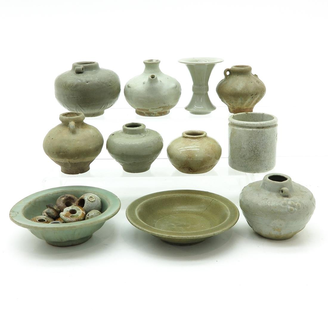 Diverse Lot of Chinese Celadon Items - 4