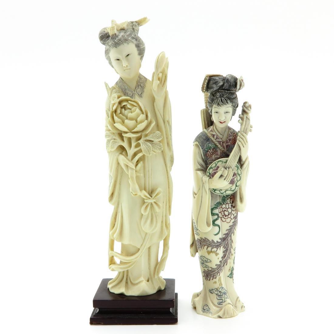Lot of 2 Carved Sculptures