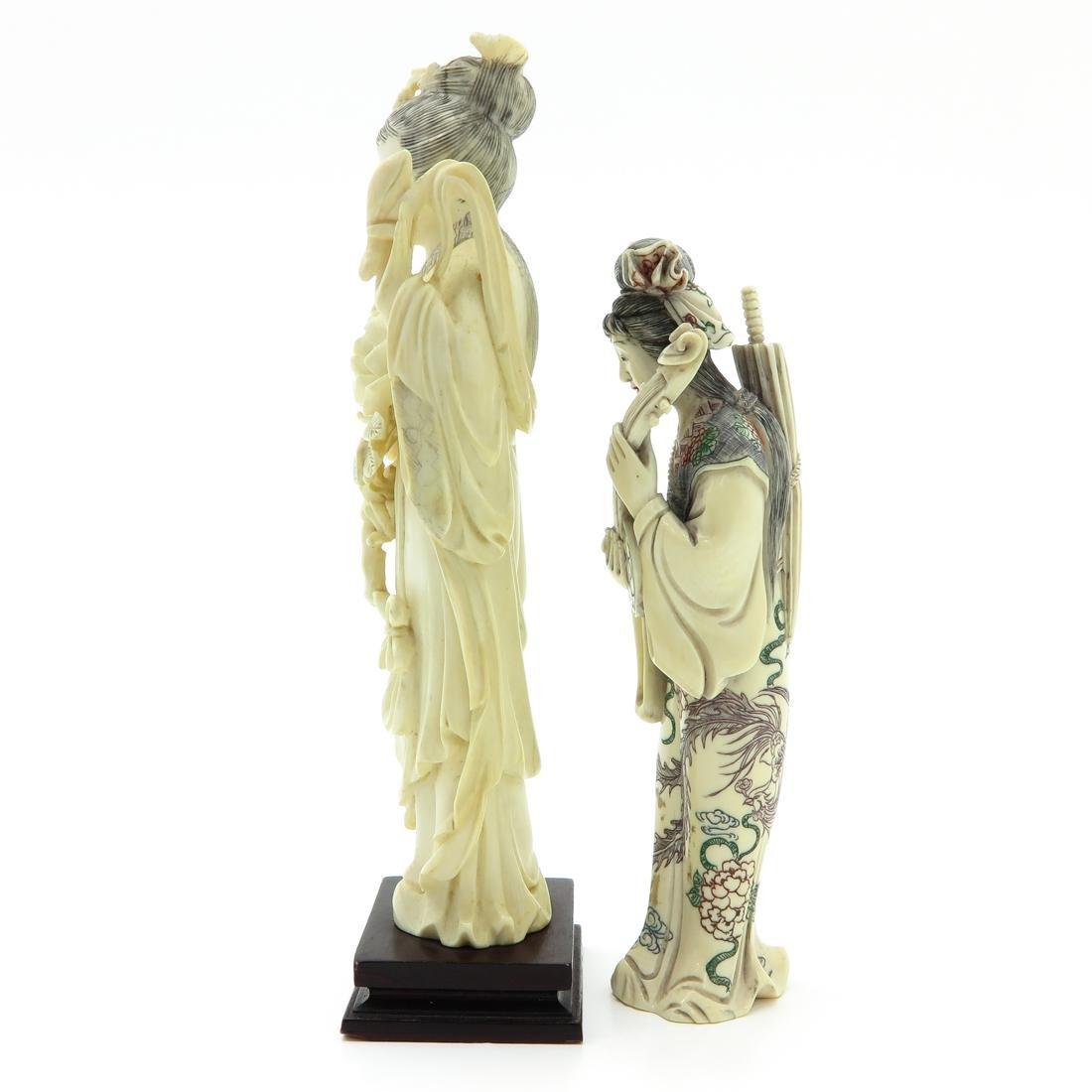 Lot of 2 Carved Sculptures - 2