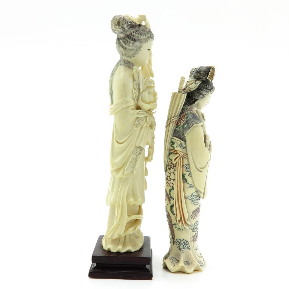 Lot of 2 Carved Sculptures - 4