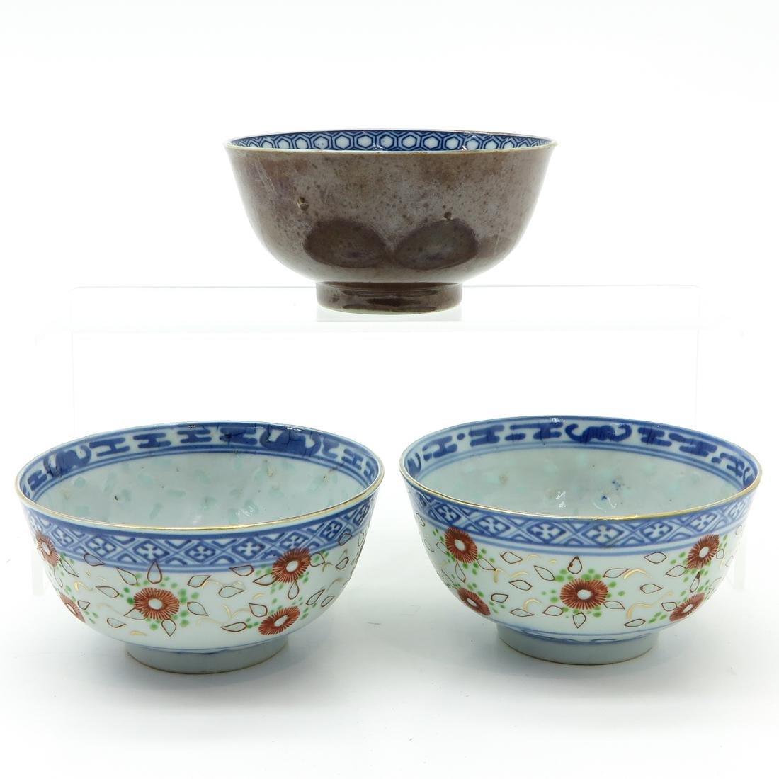 Lot of 3 Bowls