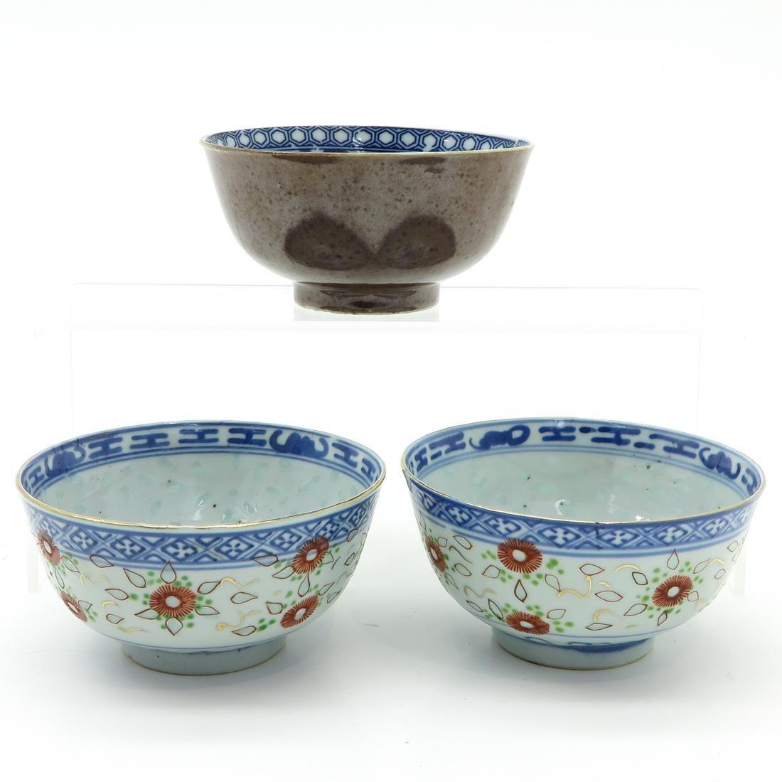 Lot of 3 Bowls - 3