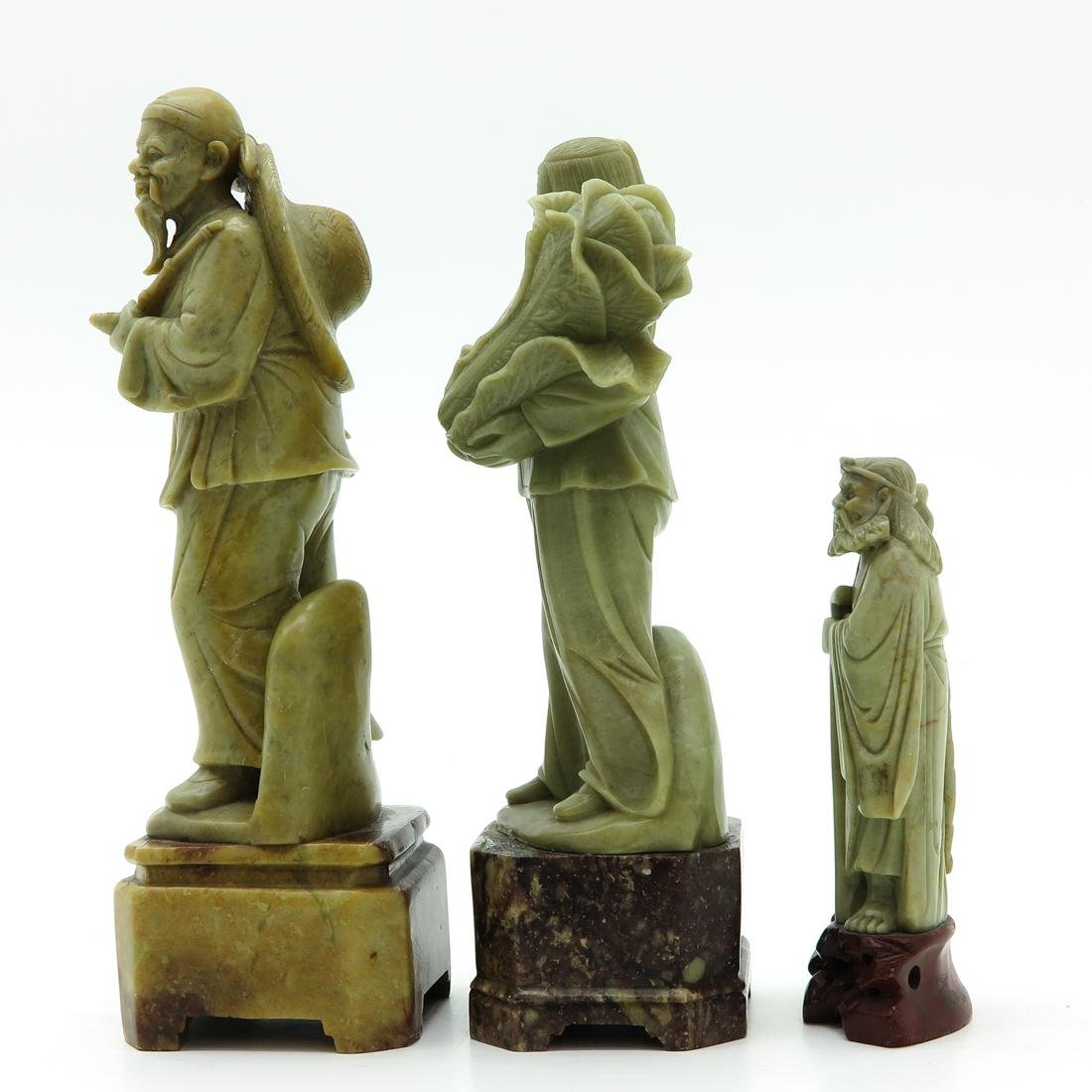 Lot of 3 Soapstone Sculptures - 2