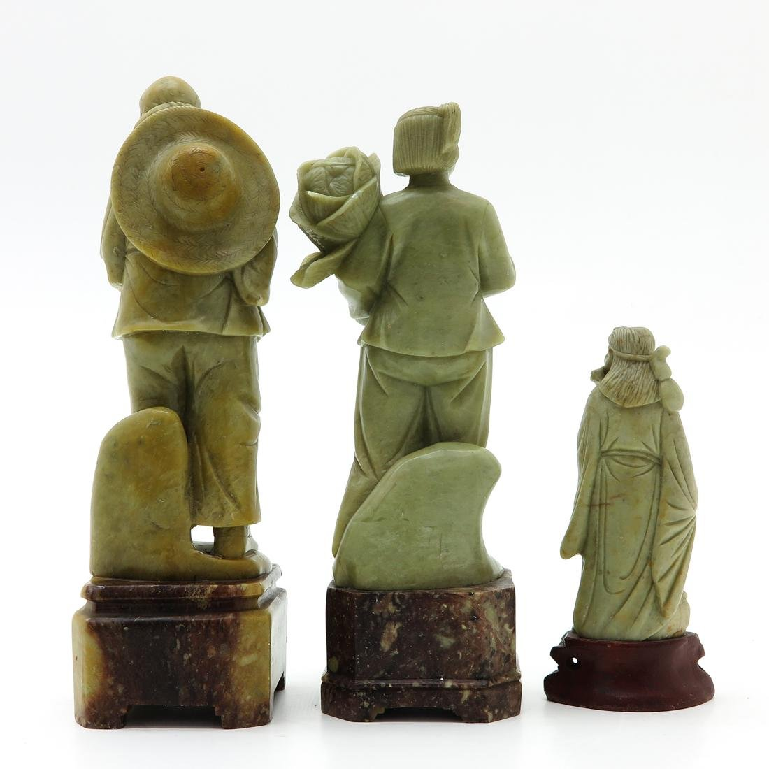 Lot of 3 Soapstone Sculptures - 3