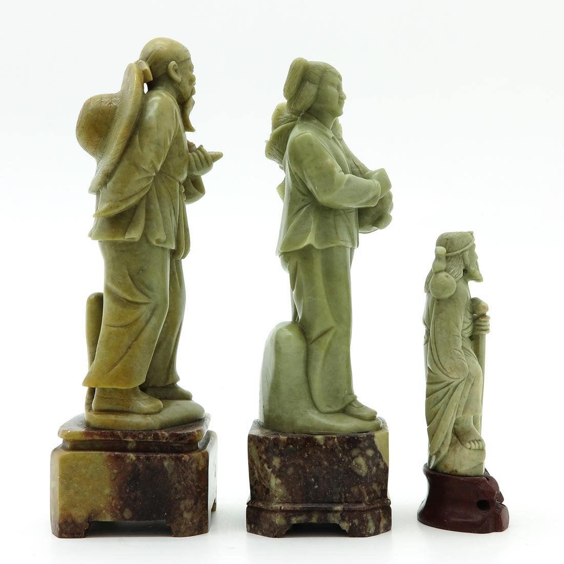 Lot of 3 Soapstone Sculptures - 4