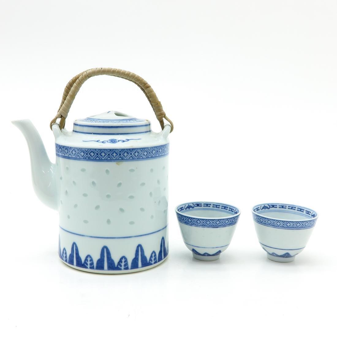 Tea Set in Wicker Basket