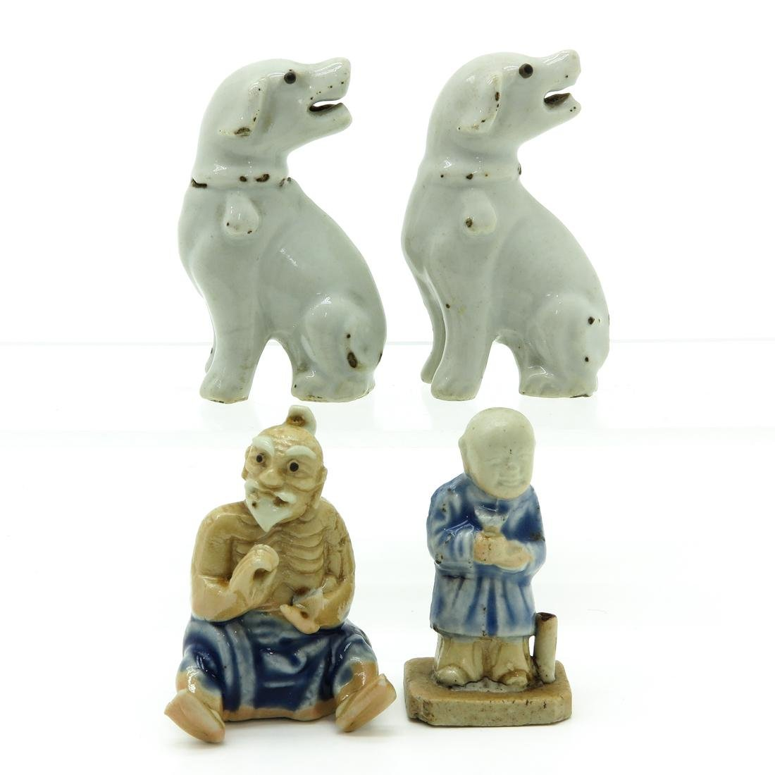 Lot of 4 Chinese Sculptures