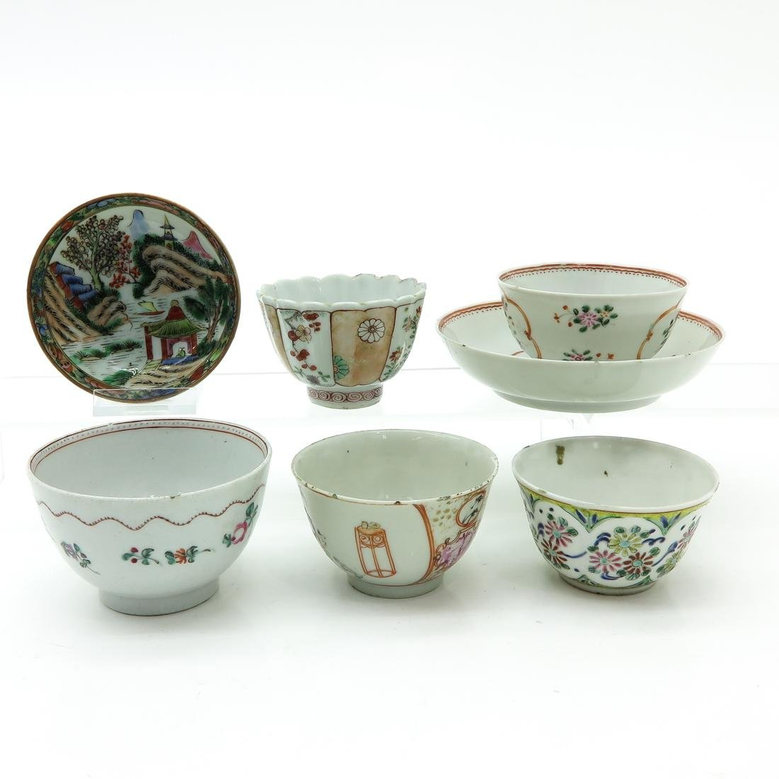 Diverse Lot of Cup and Saucers