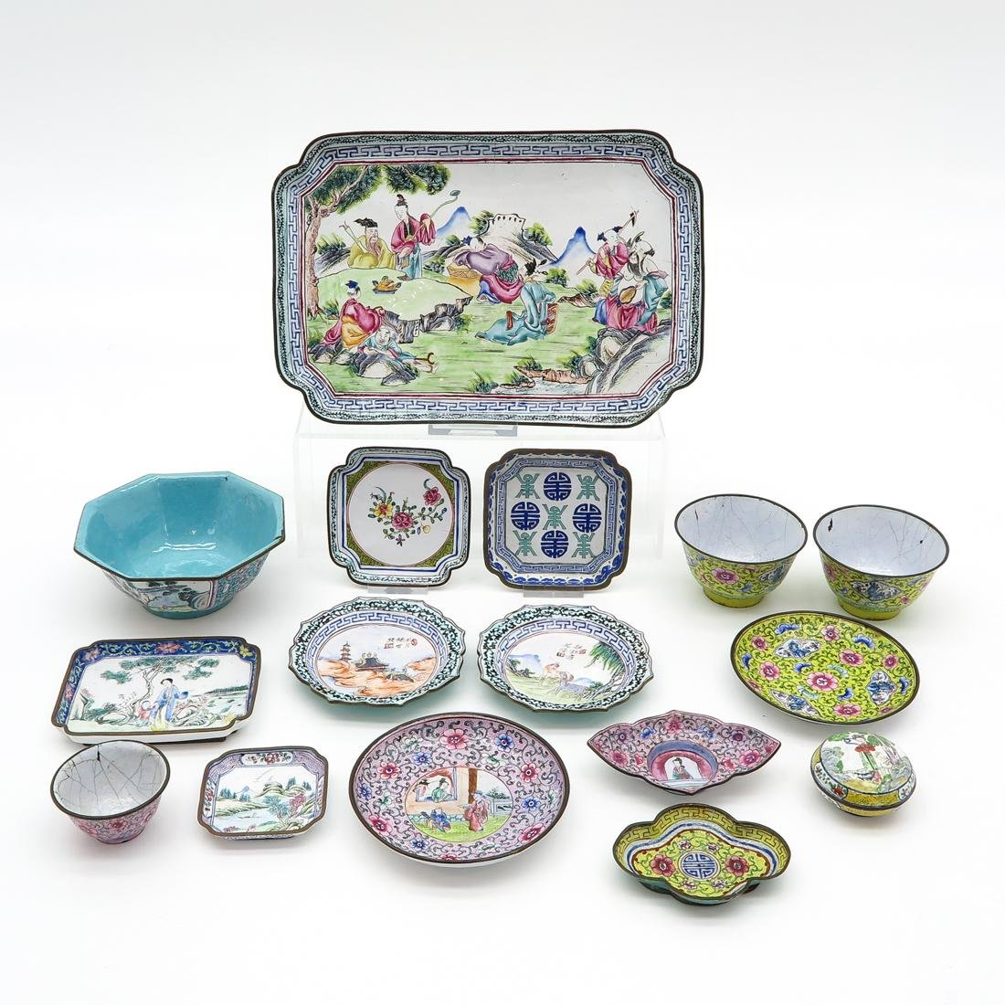 Diverse Lot of Cantonese Enamel Items