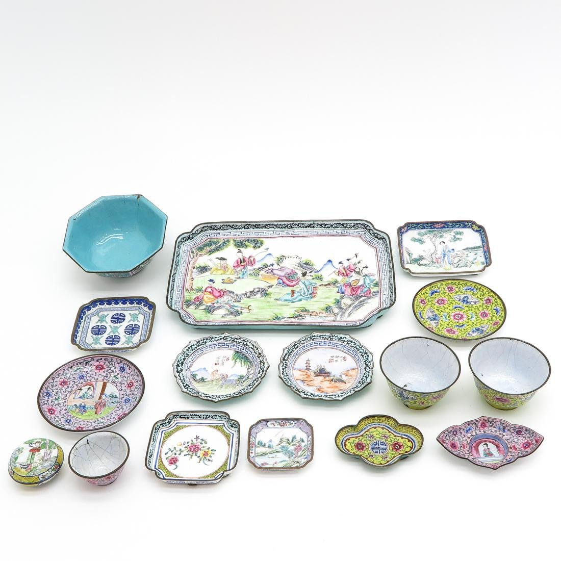 Diverse Lot of Cantonese Enamel Items - 2