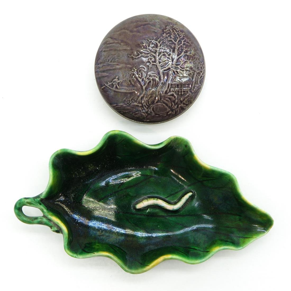 Small Lidded Box and Leaf Tray