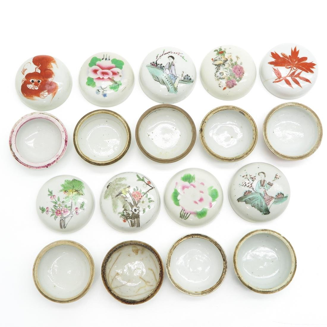Lot of 9 Small Covered Jars - 5