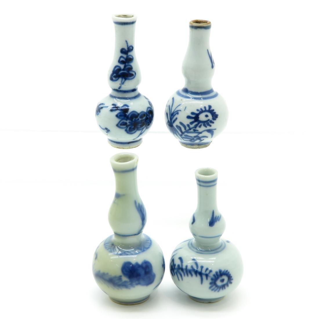 Lot of 4 Chinese Miniature Doll House Vases