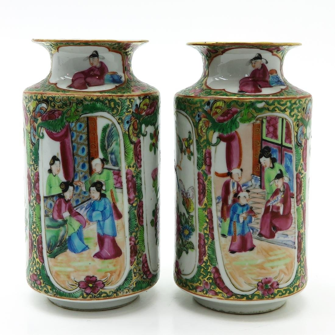 Pair of Cantonese Vases