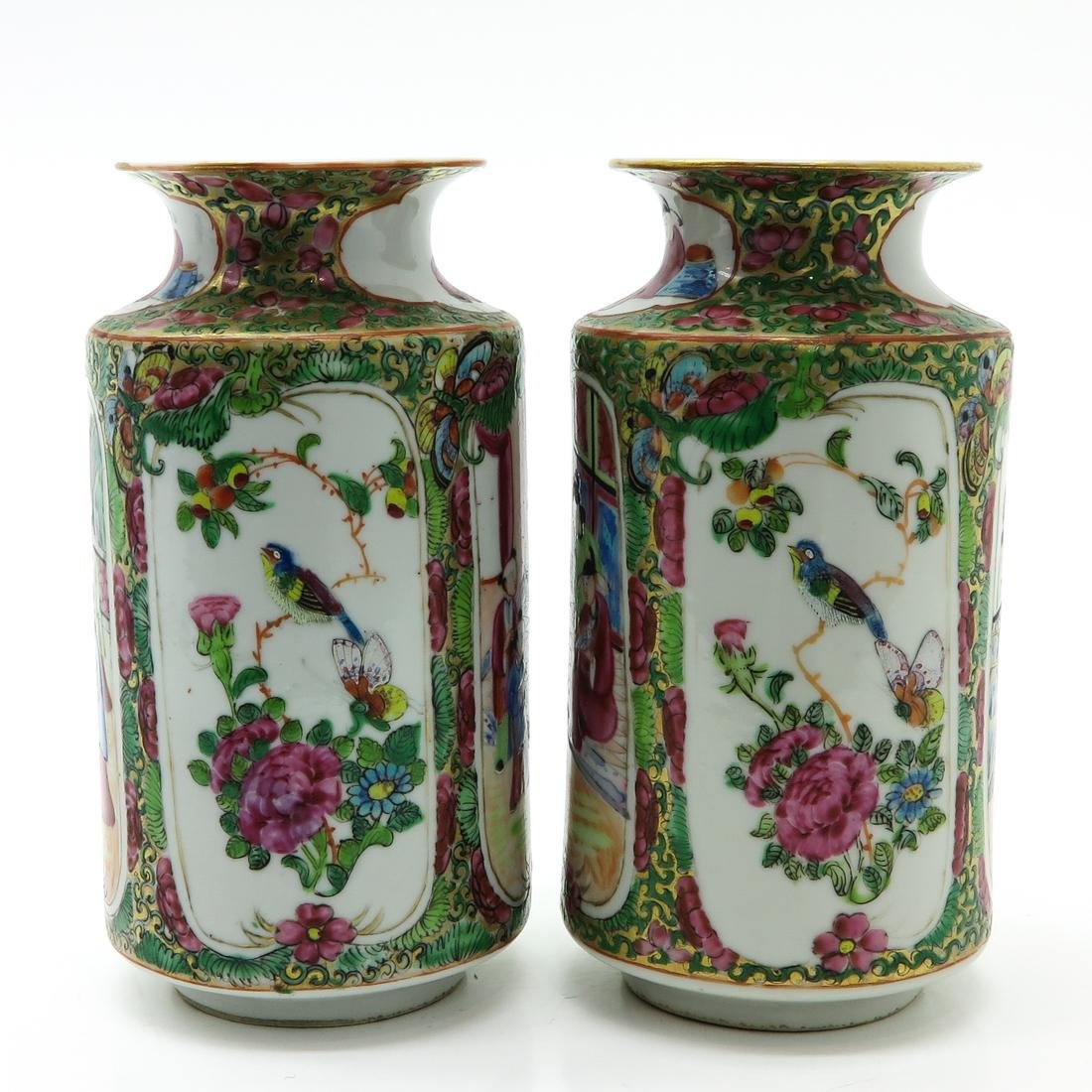 Pair of Cantonese Vases - 2
