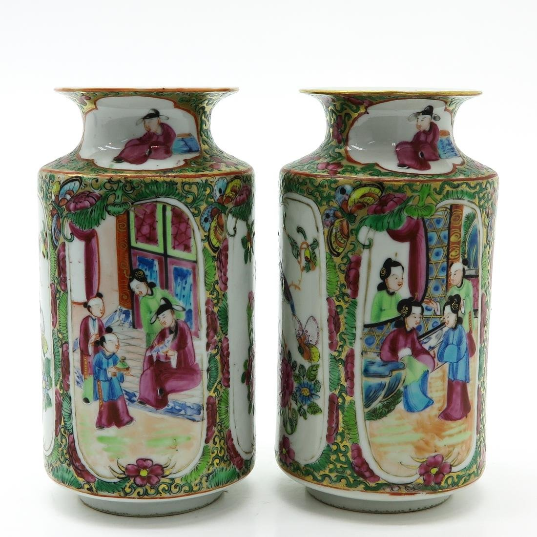 Pair of Cantonese Vases - 3