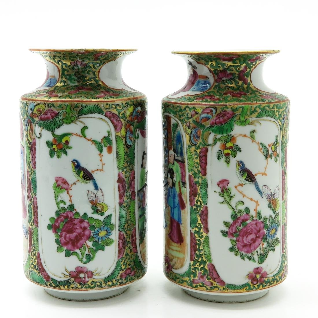 Pair of Cantonese Vases - 4